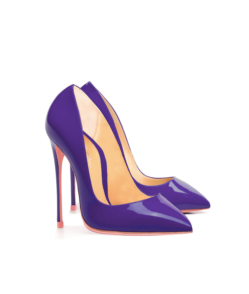 Alhena  Purple Patent · Charlotte Luxury High Heels Shoes · Ada de Angela Shoes · High Heels Shoes · Luxury High Heels · Patent Shoes · Stiletto · High Heels