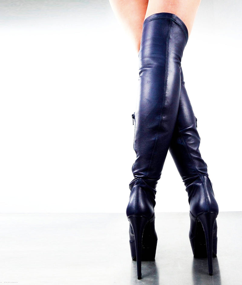 Asamoa Black · Charlotte Luxury Boots · Luxury High Heel Over Knee high Boots · Gio Hel · Custom Made · Made to measure · Luxury High Heel Over  Knee High Boots · Boots