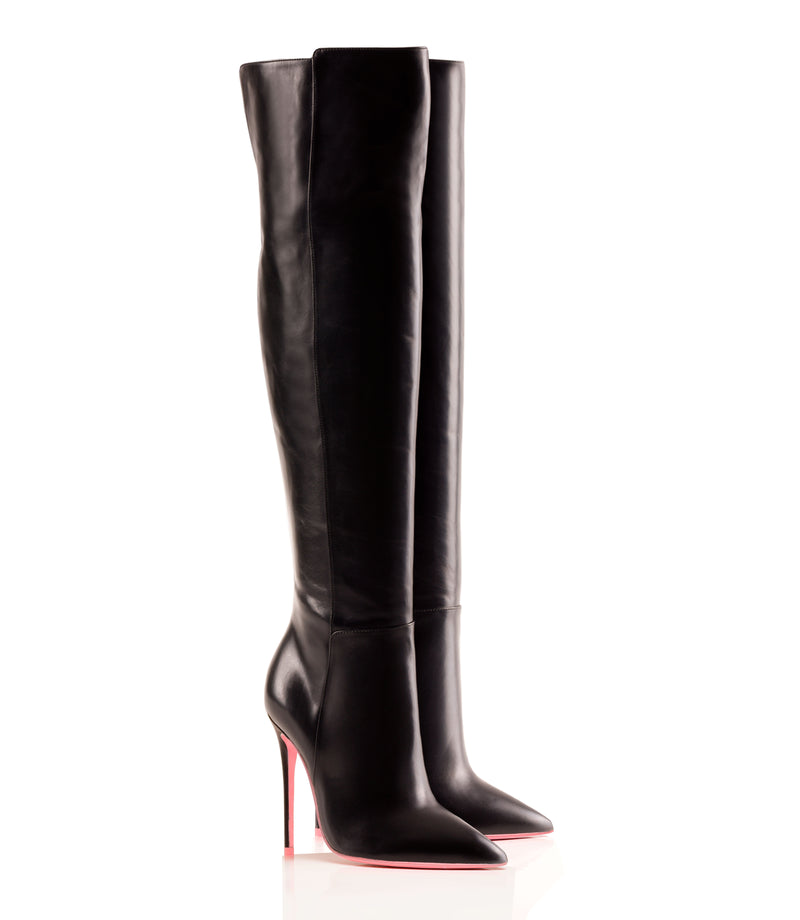 Bessel Black · Charlotte Luxury High Heels Boots · Ada de Angela Boots  · High Heels Boots · Luxury Boots · Over Knee Boots · Stiletto · Leather Boots