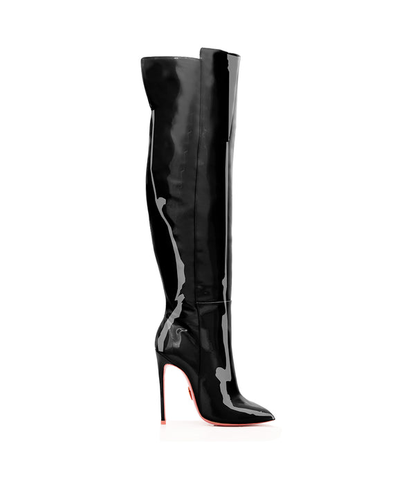 Bessel Black Patent  · Charlotte Luxury High Heels Boots · Ada de Angela Boots  · High Heels Boots · Luxury Boots · Over Knee Boots · Stiletto · Leather Boots
