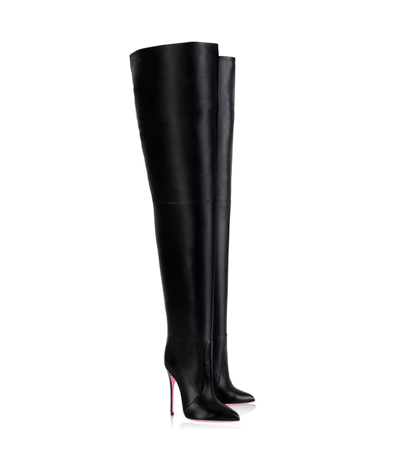 Bunda Black  · Charlotte Luxury High Heels Boots · Ada de Angela Boots  · High Heels Boots · Luxury Boots · Thigh High  Knee Boots · Stiletto · Leather Boots