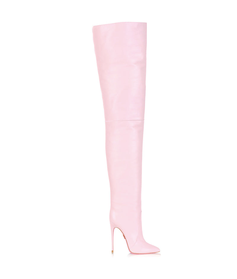 Bunda Pink  · Charlotte Luxury High Heels Boots · Ada de Angela Boots  · High Heels Boots · Luxury Boots · Thigh High  Knee Boots · Stiletto · Leather Boots