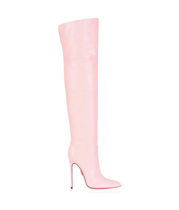 Chara Baby Pink  · Charlotte Luxury High Heels Boots · Ada de Angela Boots  · High Heels Boots · Luxury Boots · Over Knee Boots · Stiletto · Leather Boots
