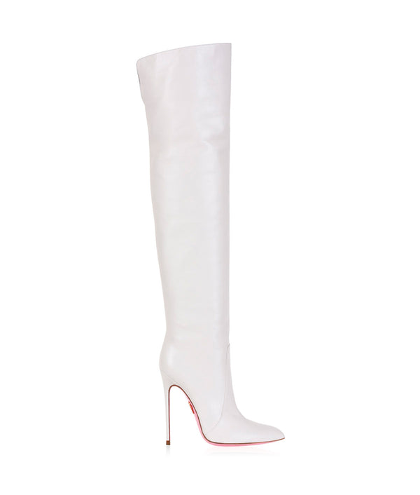 Chara White  · Charlotte Luxury High Heels Boots · Ada de Angela Boots  · High Heels Boots · Luxury Boots · Over Knee Boots · Stiletto · Leather Boots