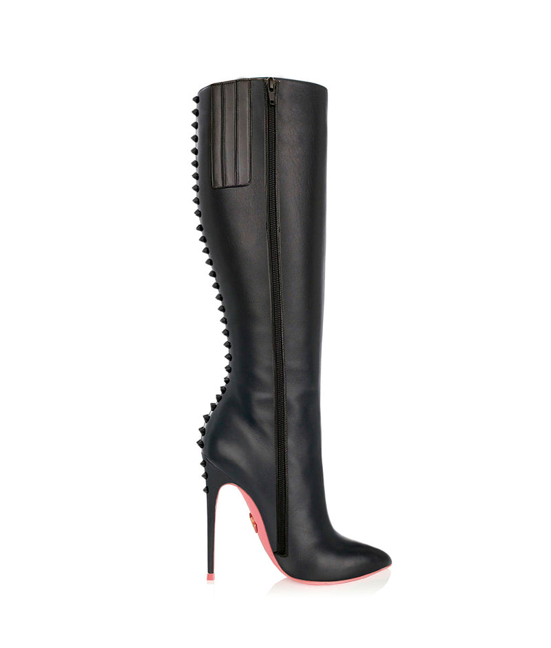 Crux Black · Charlotte Luxury High Heels Boots · Ada de Angela Shoes · High Heels Boots · Luxury Boots · Knee High Boots · Stiletto · Leather Boots