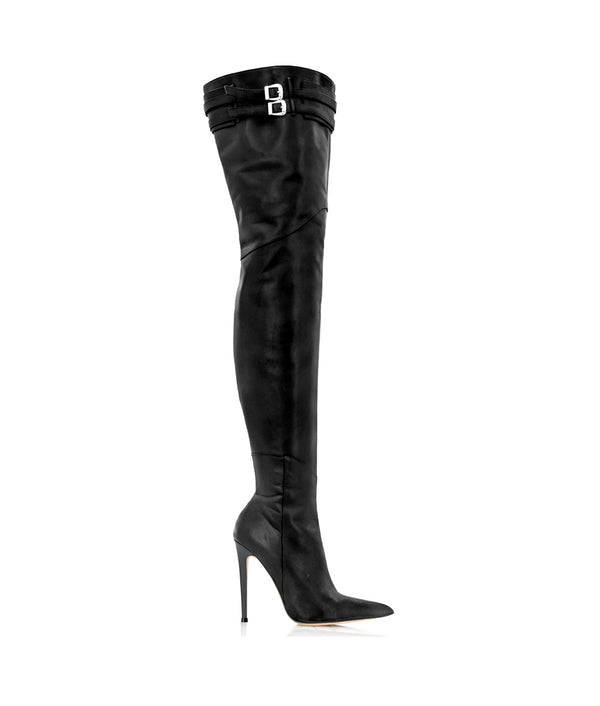 Dalina Black · Charlotte Luxury Boots · Luxury High Heel Over Knee Boots · Cq Couture · Custom Made · Made to measure · Luxury High Heel Thigh High Boots · Boots