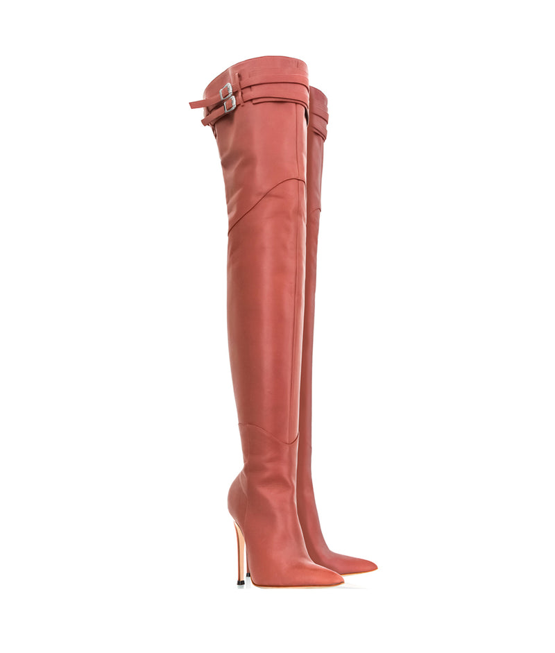 Dalina English Tan · Charlotte Luxury Boots · Luxury High Heel Over Knee Boots · Cq Couture · Custom Made · Made to measure · Luxury High Heel Thigh High Boots · Boots