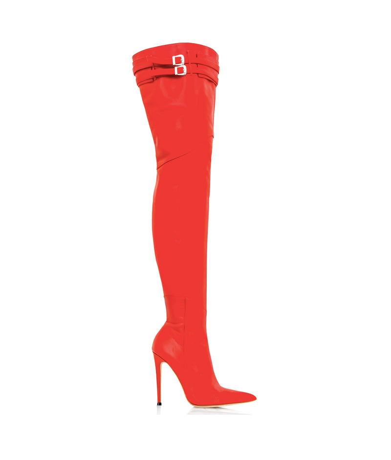 Dalina Red · Charlotte Luxury Boots · Luxury High Heel Over Knee Boots · Cq Couture · Custom Made · Made to measure · Luxury High Heel Thigh High Boots · Boots