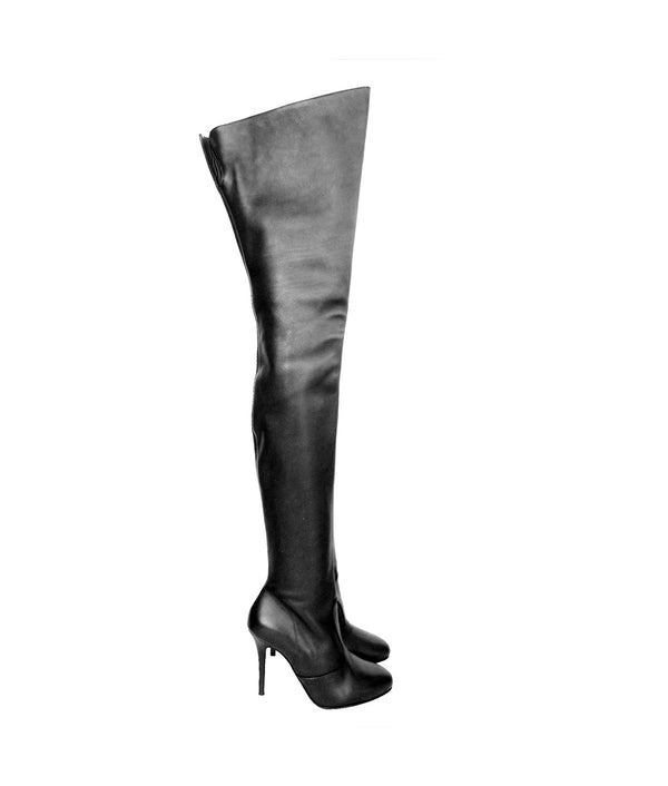 Damius Black · Charlotte Luxury Boots · Luxury High Heel Thigh high Boots · Gio Hel · Custom Made · Made to measure · Luxury High Heel Thigh High Boots · Boots