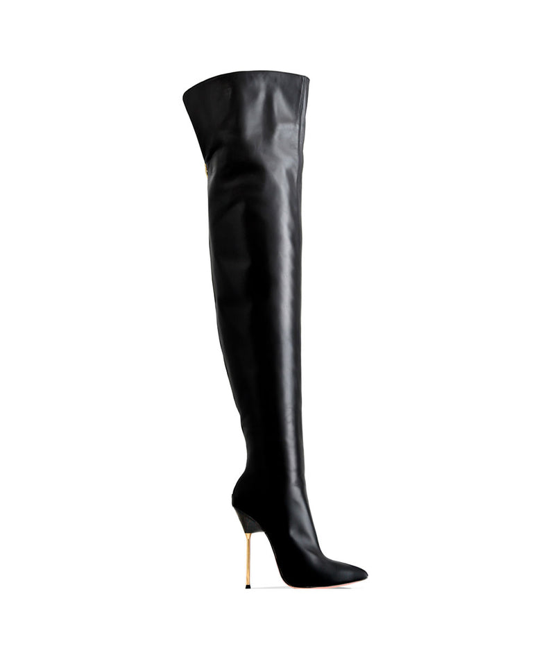 Dania Black · Charlotte Luxury Boots · Luxury High Heel Over Knee Boots · Cq Couture · Custom Made · Made to measure · Luxury High Heel Thigh High Boots · Boots