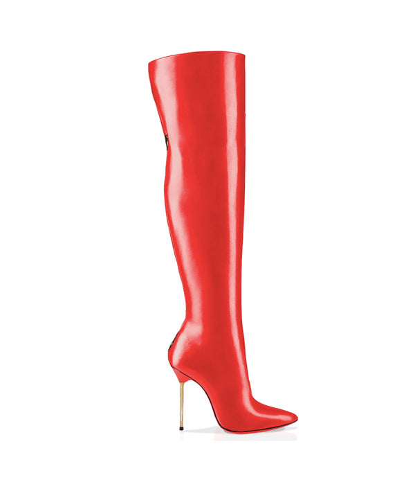 Dania Red · Charlotte Luxury Boots · Luxury High Heel Over Knee Boots · Cq Couture · Custom Made · Made to measure · Luxury High Heel Thigh High Boots · Boots