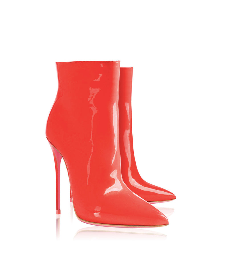 Denex Red Patent  · Charlotte Luxury High Heels Boots · Ada de Angela Shoes · High Heels Boots · Luxury Boots · Knee High Boots · Stiletto · Leather Boots