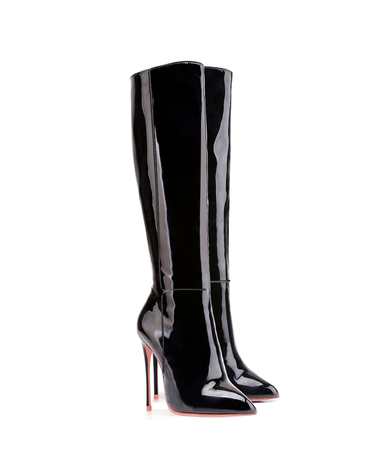 Hydor Black Patent · High Heels Boots · Charlotte Luxury · Ada de Angela Boots · Luxury High Heels Boots · Luxury Boots · Knee High Boots · Stiletto · Leather Boots