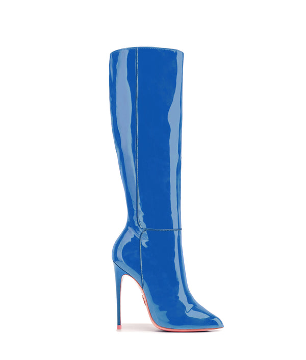 Hydor Blue Patent · High Heels Boots · Charlotte Luxury · Ada de Angela Boots · Luxury High Heels Boots · Luxury Boots · Knee High Boots · Stiletto · Leather Boots