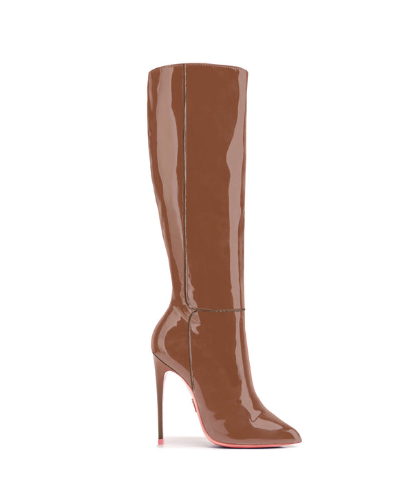 Hydor Brown Patent · High Heels Boots · Charlotte Luxury · Ada de Angela Boots · Luxury High Heels Boots · Luxury Boots · Knee High Boots · Stiletto · Leather Boots