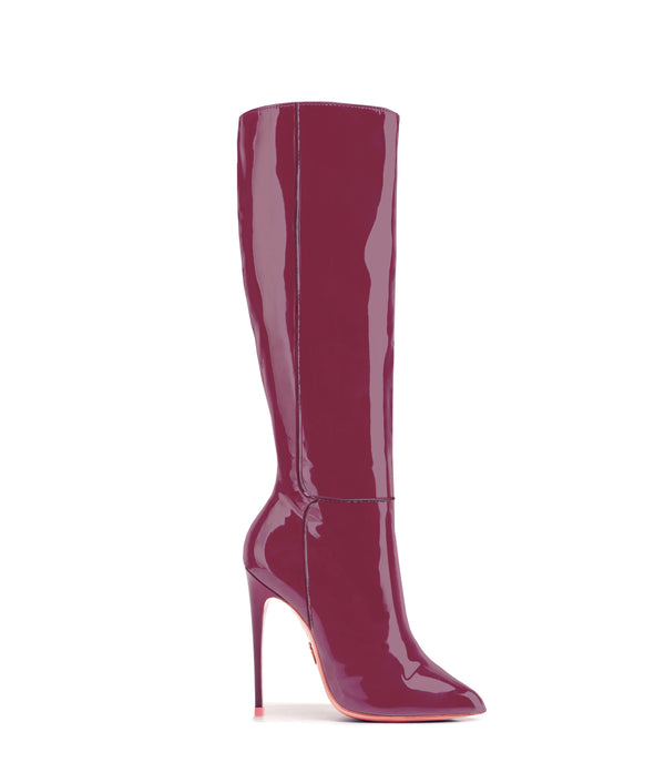 Hydor Maroon Patent · High Heels Boots · Charlotte Luxury · Ada de Angela Boots · Luxury High Heels Boots · Luxury Boots · Knee High Boots · Stiletto · Leather Boots