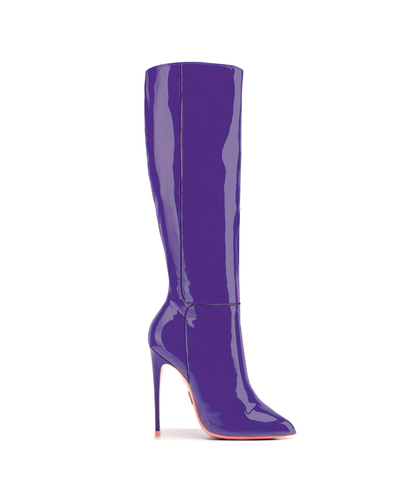 Hydor Purple Patent · High Heels Boots · Charlotte Luxury · Ada de Angela Boots · Luxury High Heels Boots · Luxury Boots · Knee High Boots · Stiletto · Leather Boots