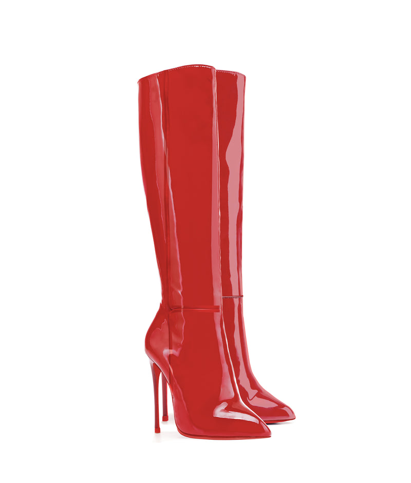 Hydor Red Patent · High Heels Boots · Charlotte Luxury · Ada de Angela Boots · Luxury High Heels Boots · Luxury Boots · Knee High Boots · Stiletto · Leather Boots