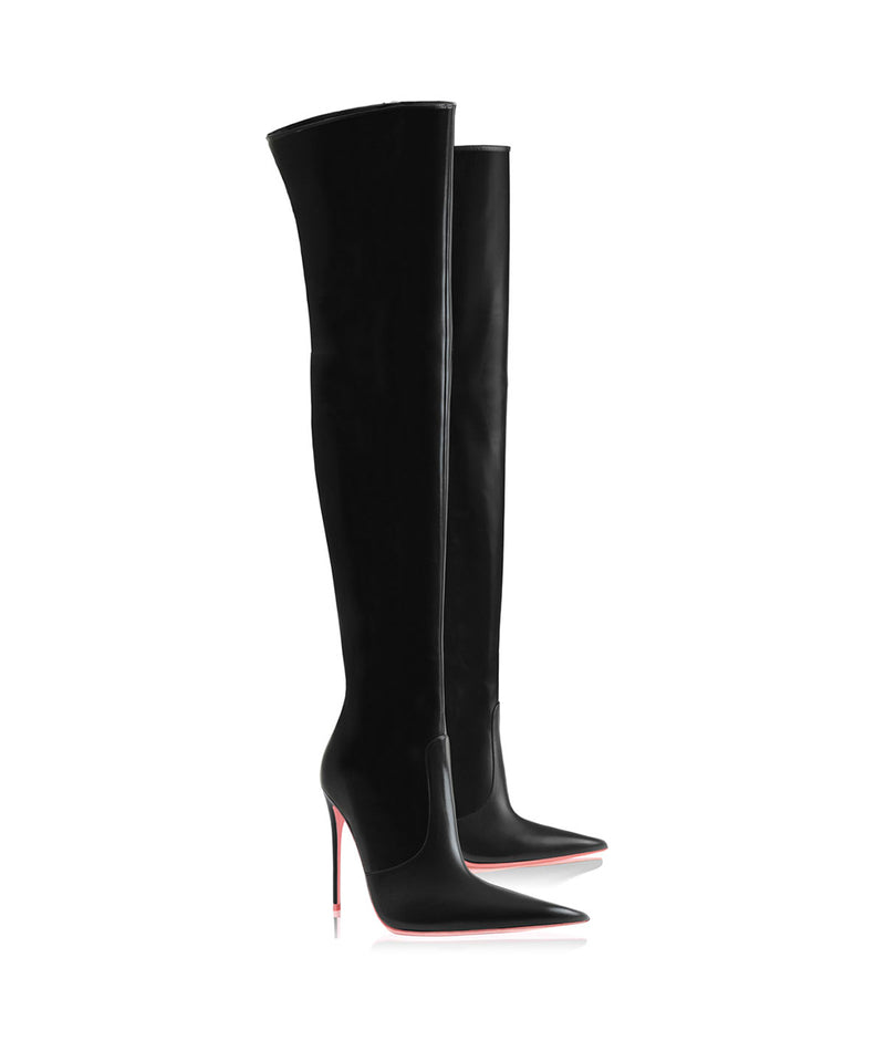 Kraz  Black · Charlotte Luxury High Heels Boots · Ada de Angela Shoes · High Heels Boots · Luxury Boots · Over Knee High Boots · Stiletto · Leather Boots
