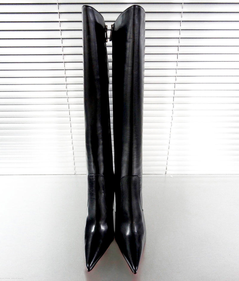 Kymia Black · Charlotte Luxury Boots · Luxury High Heel Knee high Boots · Gio Hel · Custom Made · Made to measure · Luxury High Heel Knee High Boots · Boots