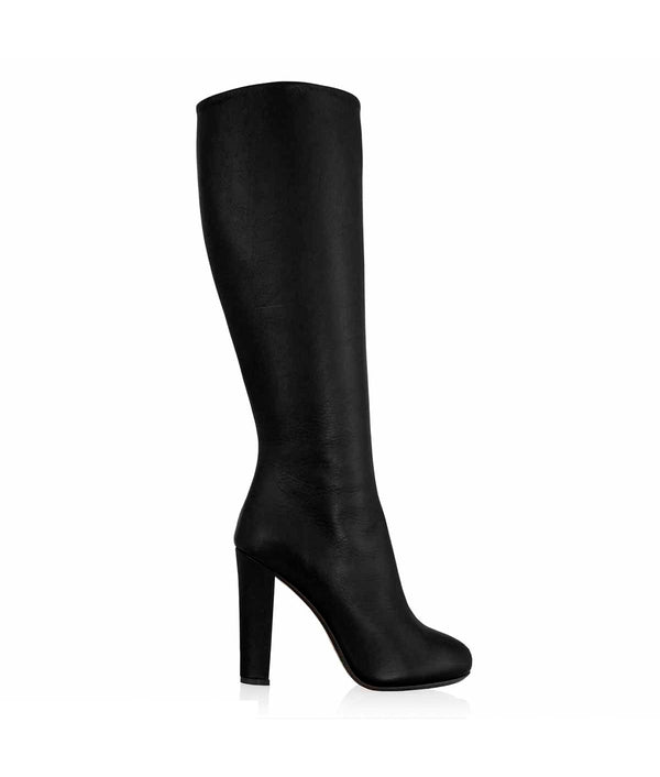 Masii Black · Cq Couture · Charlotte Luxury High Heels Knee High Boots · Luxury High heel Platform Boots · High heels Boots · Luxury High Heels Boots made in Italy