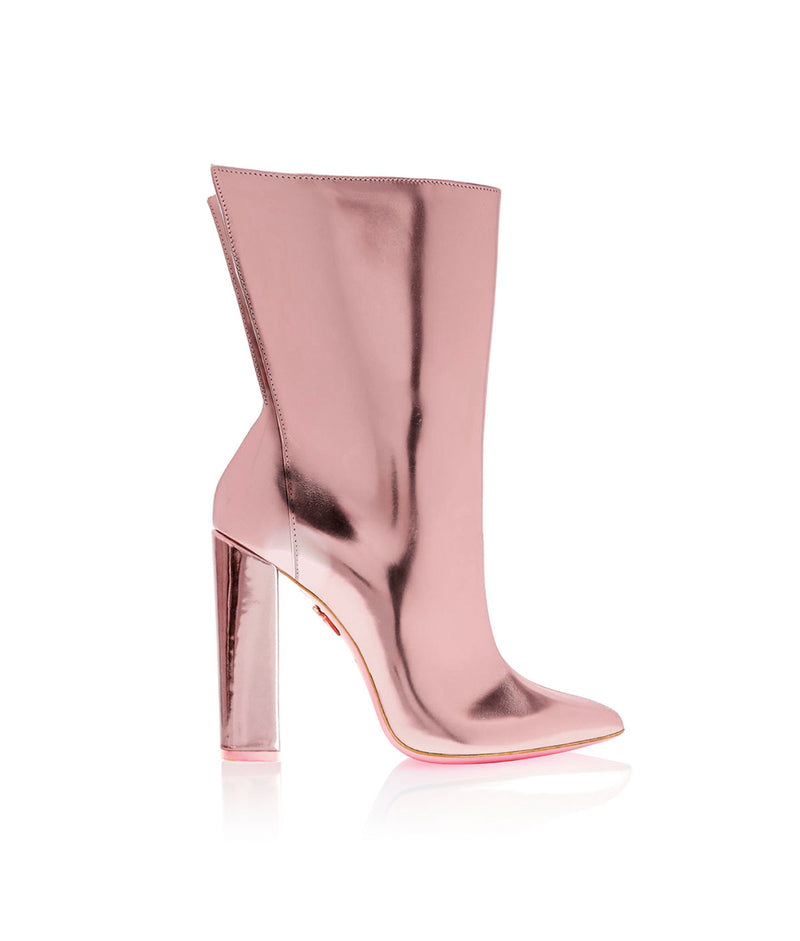 Meissa Pink Metallic Mirror   · Charlotte Luxury High Heels Boots · Ada de Angela Shoes · High Heels Boots · Luxury Boots · Knee High Boots · Stiletto · Leather Boots