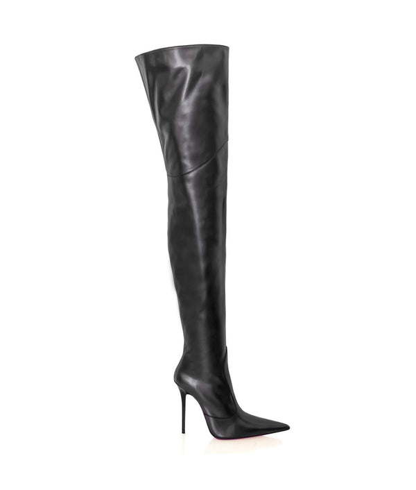 Mordaz Black · Charlotte Luxury Boots · Luxury High Heel Over Knee Boots · Cq Couture · Custom Made · Made to measure · Luxury High Heel Thigh High Boots · Boots