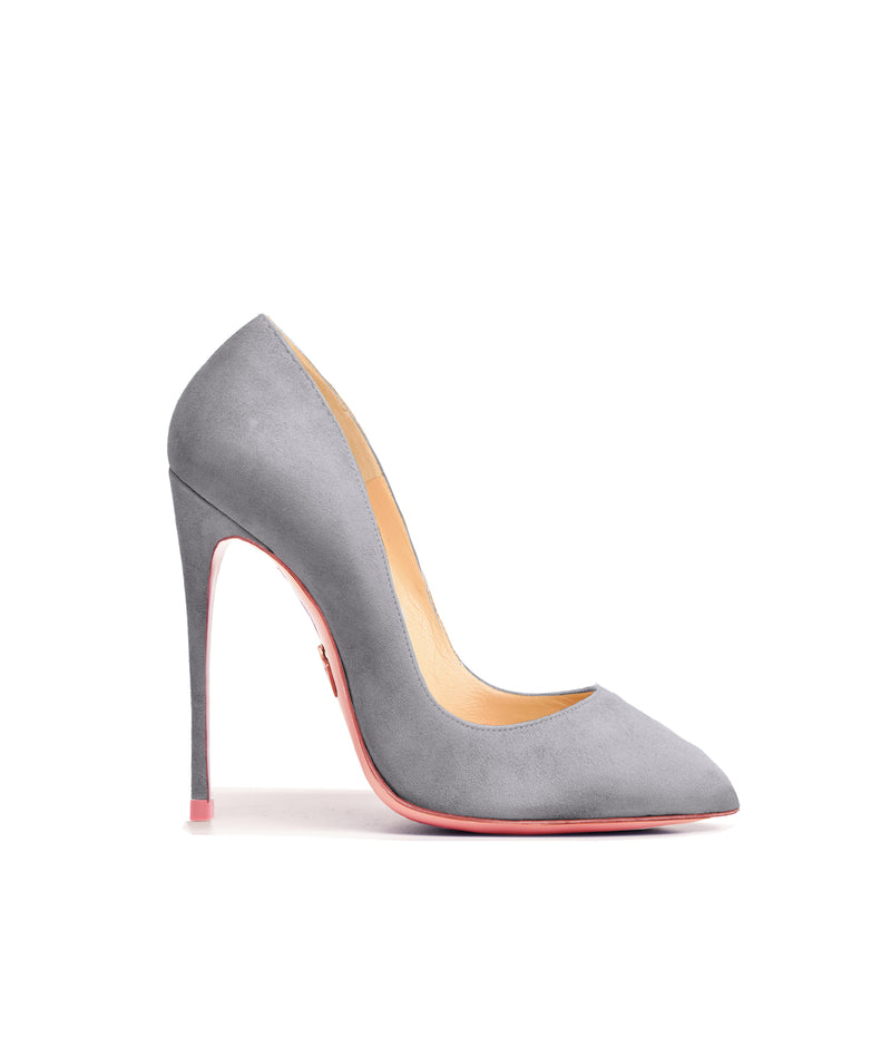 Alhena Gray Suede  · Charlotte Luxury High Heels Shoes · Ada de Angela Shoes · High Heels Shoes · Luxury High Heels · Patent Shoes · Stiletto · High Heels