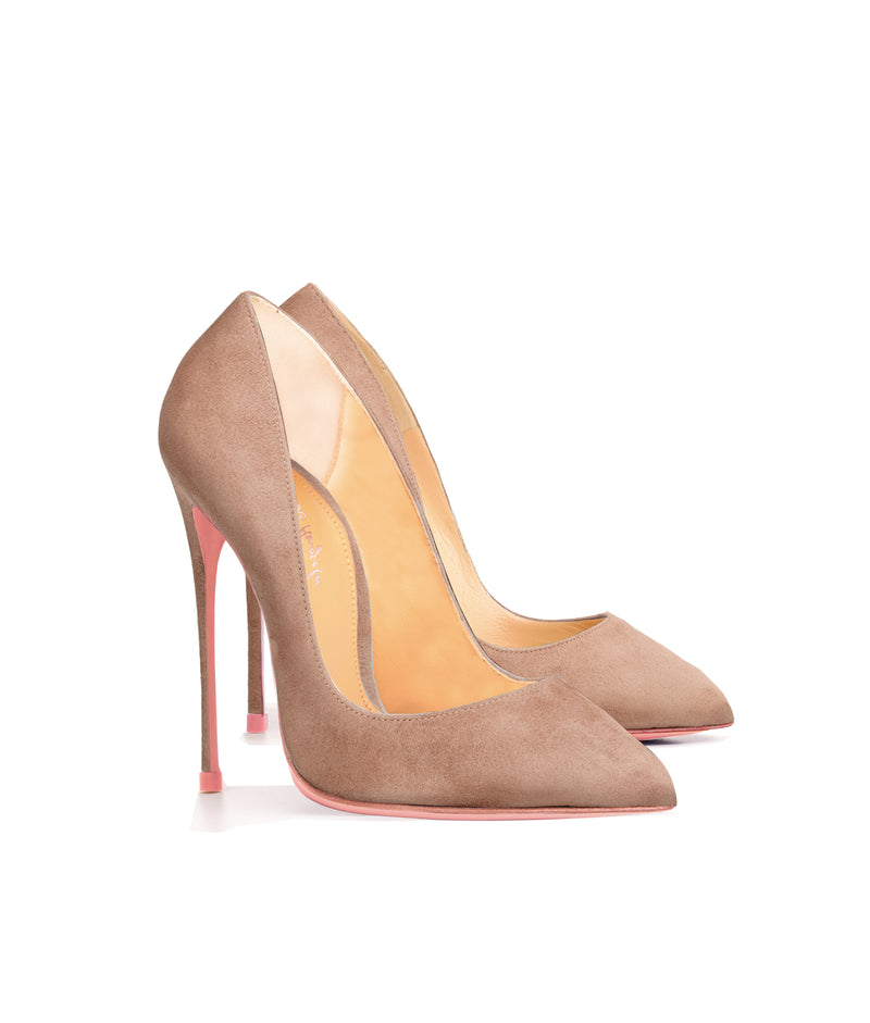Alhena Nude Suede  · Charlotte Luxury High Heels Shoes · Ada de Angela Shoes · High Heels Shoes · Luxury High Heels · Patent Shoes · Stiletto · High Heels