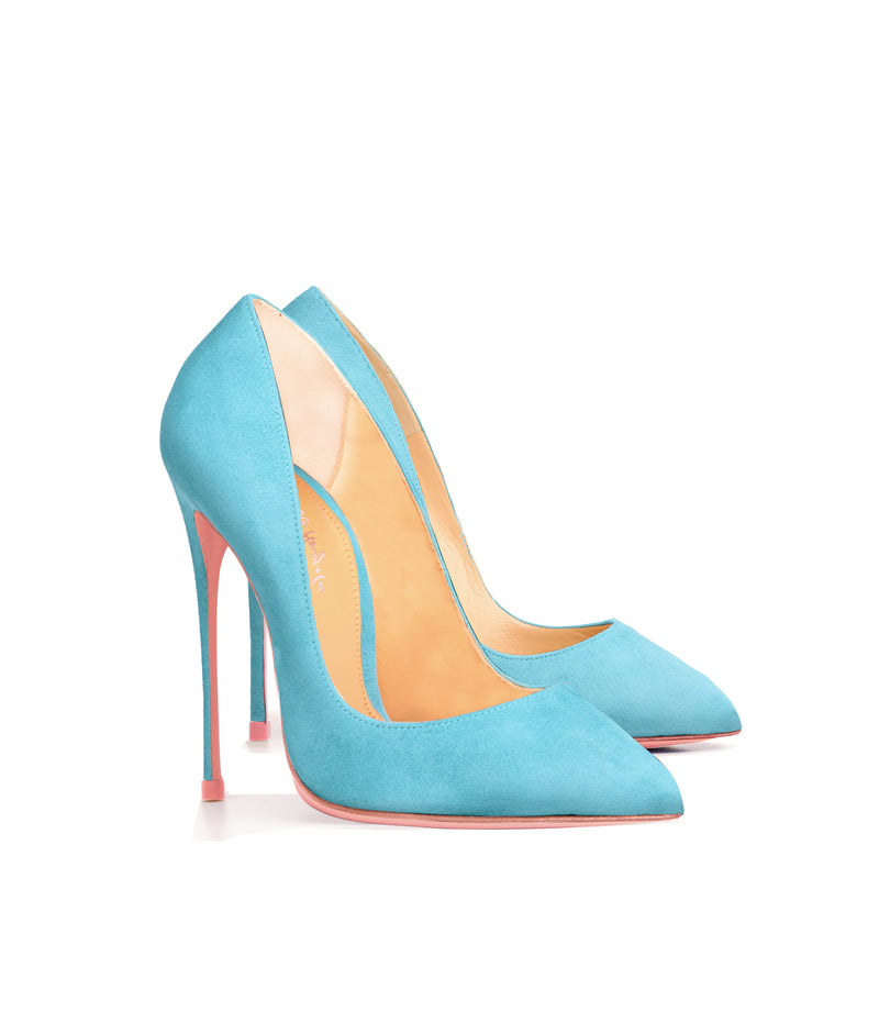 Alhena  Pastel Blue  Suede  · Charlotte Luxury High Heels Shoes · Ada de Angela Shoes · High Heels Shoes · Luxury High Heels · Patent Shoes · Stiletto · High Heels