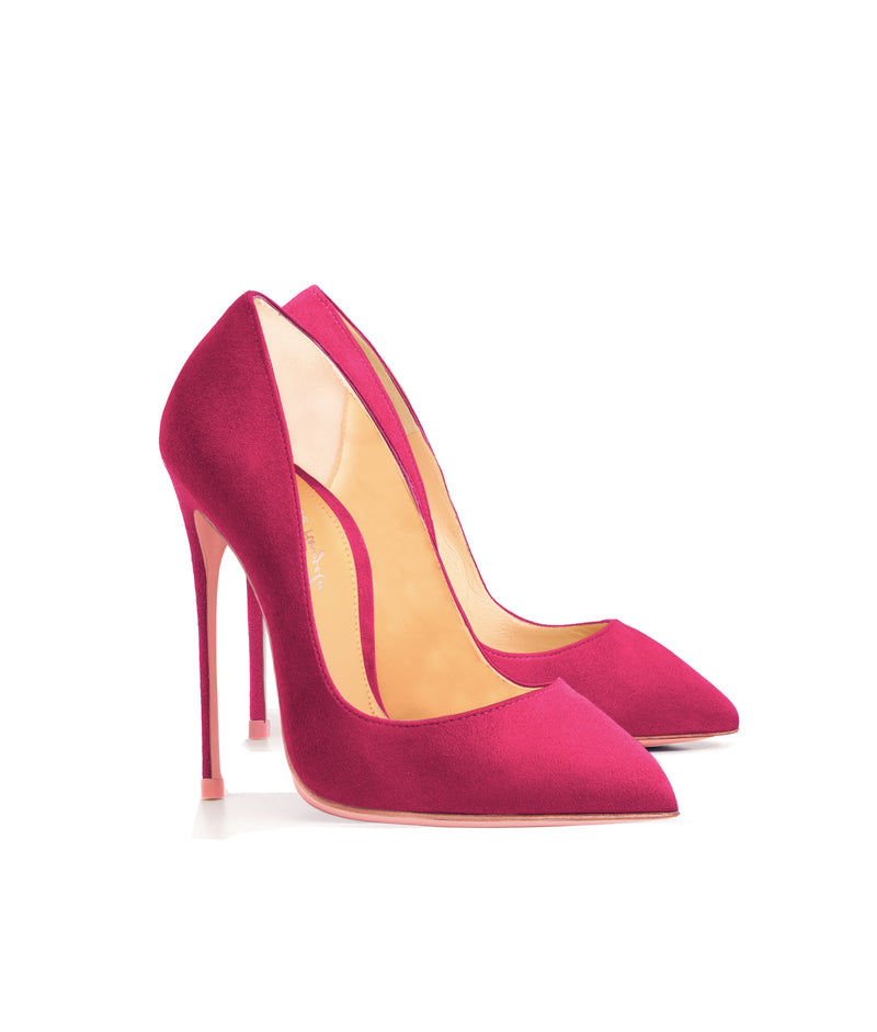 Alhena Fuchsia Suede  · Charlotte Luxury High Heels Shoes · Ada de Angela Shoes · High Heels Shoes · Luxury High Heels · Patent Shoes · Stiletto · High Heels