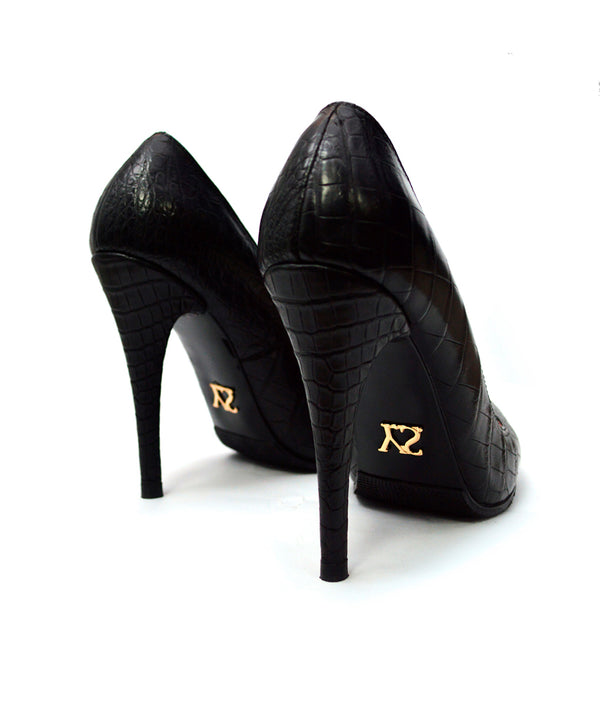 Noa Black Crocodile · Charlotte Luxury Shoes · Luxury High Heel Pumps Shoes · Yarose Shulzhenko · Custom Made · Made to measure · Luxury High Heel Shoes · Shoes