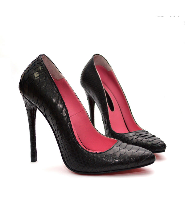 Noa Black Python · Charlotte Luxury Shoes · Luxury High Heel Pumps Shoes · Yarose Shulzhenko · Custom Made · Made to measure · Luxury High Heel Shoes · Shoes
