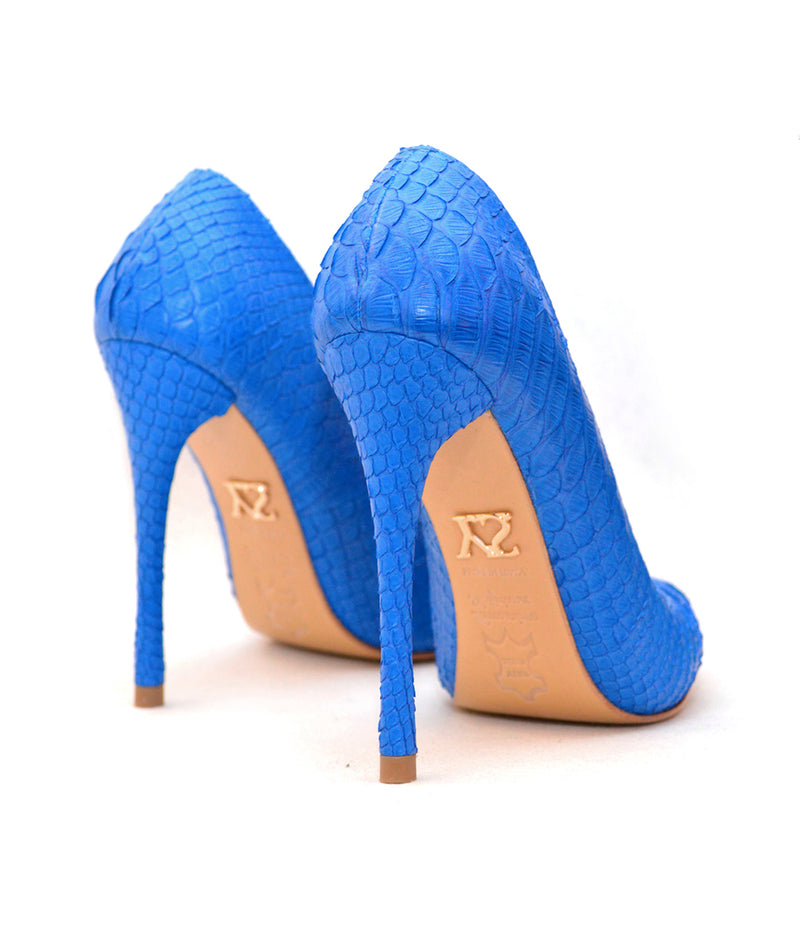 Noa Blue Python · Charlotte Luxury Shoes · Luxury High Heel Pumps Shoes · Yarose Shulzhenko · Custom Made · Made to measure · Luxury High Heel Shoes · Shoes