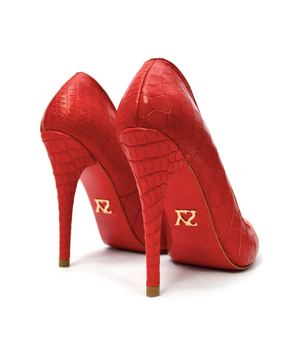Noa Red Crocodile · Charlotte Luxury Shoes · Luxury High Heel Pumps Shoes · Yarose Shulzhenko · Custom Made · Made to measure · Luxury High Heel Shoes · Shoes
