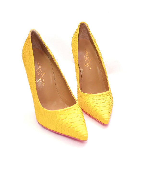 Noa Yellow Python · Charlotte Luxury Shoes · Luxury High Heel Pumps Shoes · Yarose Shulzhenko · Custom Made · Made to measure · Luxury High Heel Shoes 3 Shoes
