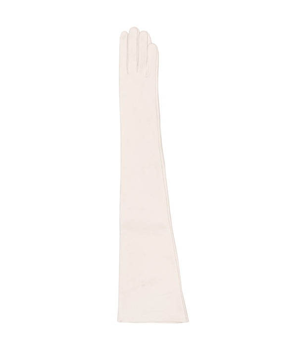 Odice White · Long Opera Leather Globes · Charlotte-luxury.com · Leather fetish warm length gloves · wedding Gloves · White leather gloves · Bridal Gloves · Made to measure gloves · Custom made gloves · Luxury Gloves