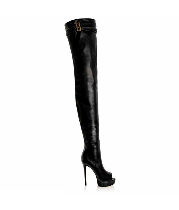 Pyska Black · Cq Couture rg Charlotte Luxury High Heels Boots · Luxury High heel Fetish Boots ·  Platform Peep Toe Thigh high Boots · Luxury High Heels Boots made in Italy