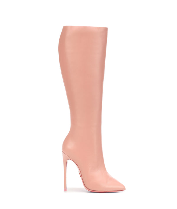 Sadira Baby Pink· Charlotte Luxury High Heels Boots · Ada de Angela Shoes · High Heels Boots · Luxury Boots · Knee High Boots · Stiletto · Leather Boots