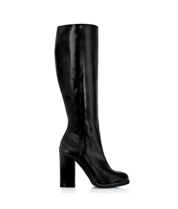 Shamba Black · Charlotte Luxury Boots · Luxury High Heel Knee high Boots · Cq Couture · Custom Made · Made to measure · Luxury High Heel Knee High Boots · Boots