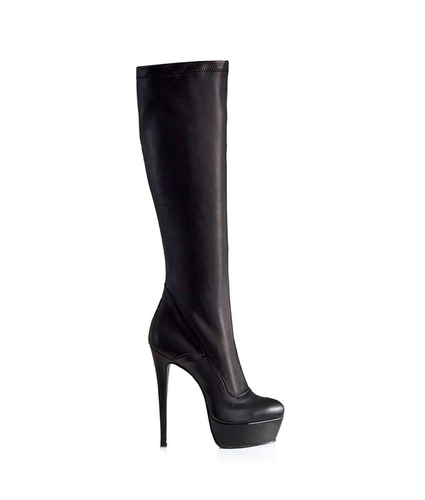 Samoa Black · Charlotte Luxury Boots · Luxury High Heel Knee high Boots · Gio Hel · Custom Made · Made to measure · Luxury High Heel Knee High Boots · Boots