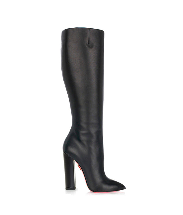 Sirio Black · Charlotte Luxury High Heels Boots · Ada de Angela Shoes · High Heels Boots · Luxury Boots · Knee High Boots · Stiletto · Leather Boots