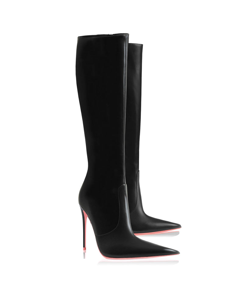 Tiaki  Black · Charlotte Luxury High Heels Boots · Ada de Angela Shoes · High Heels Boots · Luxury Boots · Knee High Boots · Stiletto · Leather Boots