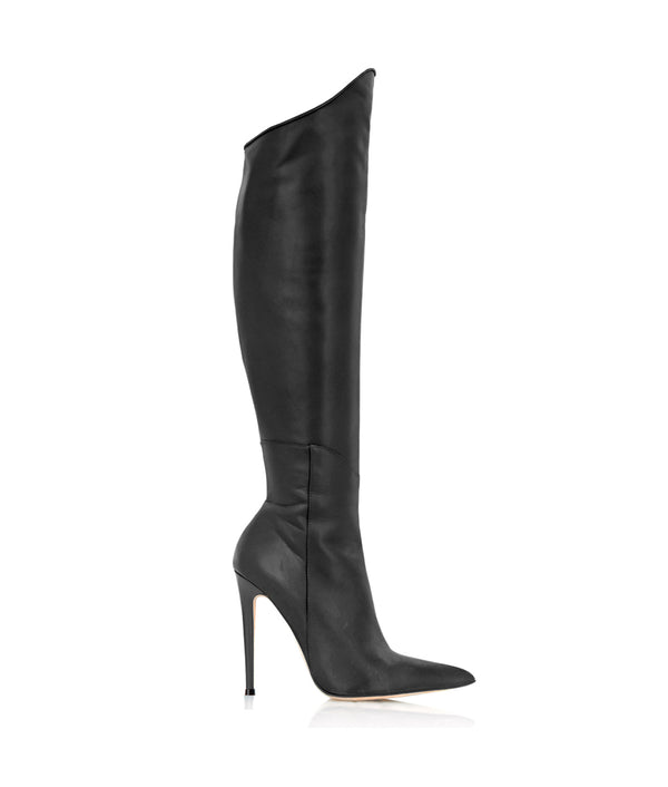 Zyndra Black · Charlotte Luxury Boots · Luxury High Heel Over Knee Boots · Cq Couture · Custom Made · Made to measure · Luxury High Heel Thigh High Boots · Boots
