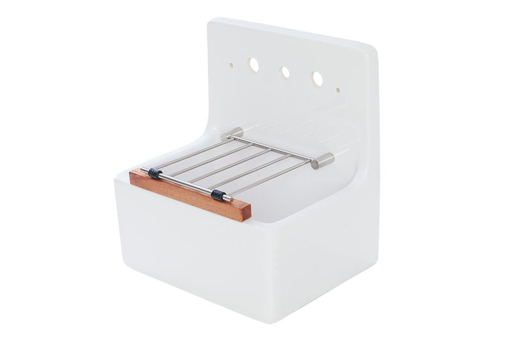 Scullery Tub 510 x 390 x 490mm With Tap Holes & Grate