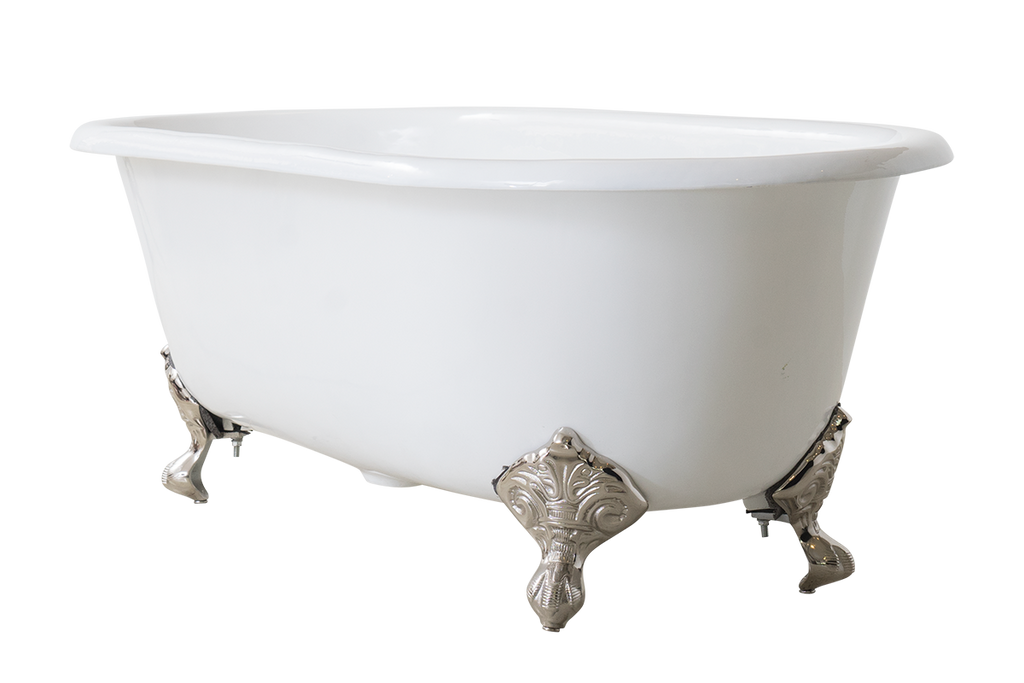 Baroque - Double Ended Roll Top Claw Cast Iron Bath