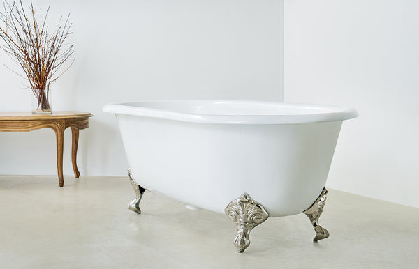 Baroque - Double Ended Roll Top Claw Foot Cast Iron Bath