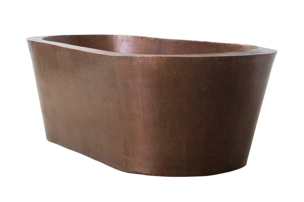 Copper Hammered Oval Bath