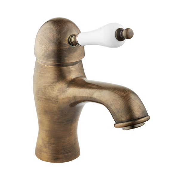 English Bathroom Tap - Porcelain Lever