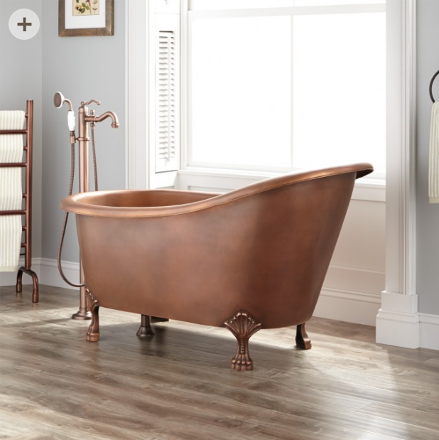 Copper Slipper Bath